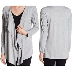 NWT Vince Camuto Drape Cardigan Sweater Gray XL